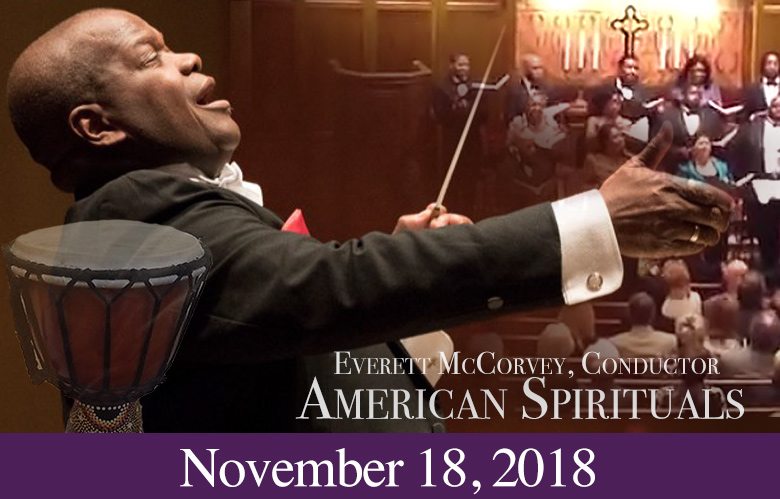2018 Concert: American Spirituals with Everett McCorvey